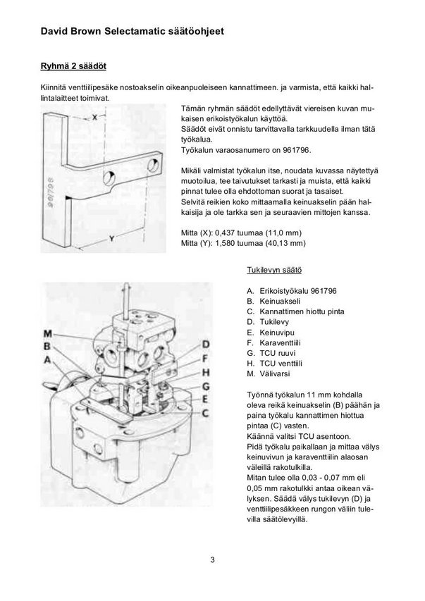 Selectamatic nostolaitteen säätöohjeet  _img1280